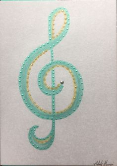 """You're Treble"" Hand Painted Greeting Card & Design by Melody Germain of My ""Escape"" Art"