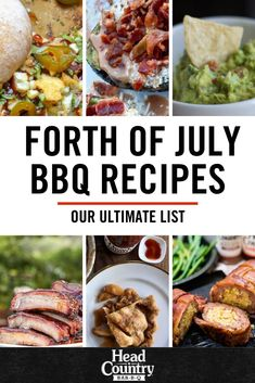 Our Ultimate List of Fourth of July BBQ and Grilling Recipes is great for Fourth of July cookouts! Head Country Bbq Sauce Recipe, Country Bar, Summer Grilling Recipes, Fourth Of July, The Best, Celebrations, Ethnic Recipes, Food, Essen