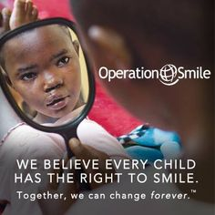 So important!  A smile is a gift that will last a child a lifetime. :) Operation Smile http://www.operationsmile.org/