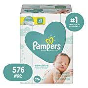 Baby Wipes, Pampers Sensitive Water Based Baby Diaper Wipes, Hypoallergenic and Unscented, Pop-Top Packs, 576 Count Total Wipes (Packaging May Vary) Password Organizer, Cart Cover For Baby, Organic Baby Wipes, Newborn Diapers, Wipes Case, 2nd Baby, Baby Registry, Baby Care, Wet Wipe