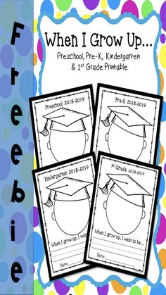 FREE End of the year graduation printable for Preschool, Pre-K, Kindergarten and 1st Grade.