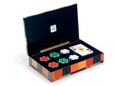 Estuche moderno con baraja de poker y fichas - www.mentesdiferentes.com