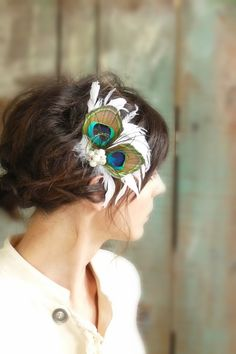 Peacock Fascinator - feathered designs