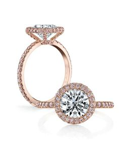 Eva Rose Pink Diamonds - Round by Jean Dousset // More from Jean Dousset: http://www.theknot.com/gallery/wedding-rings/Jean Dousset