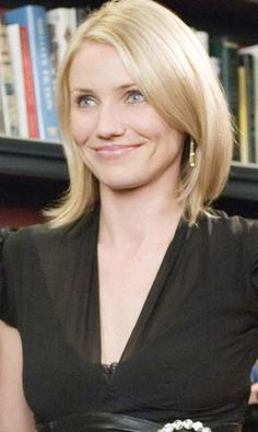 Love Cameron Diaz's hair here. From The Holiday.