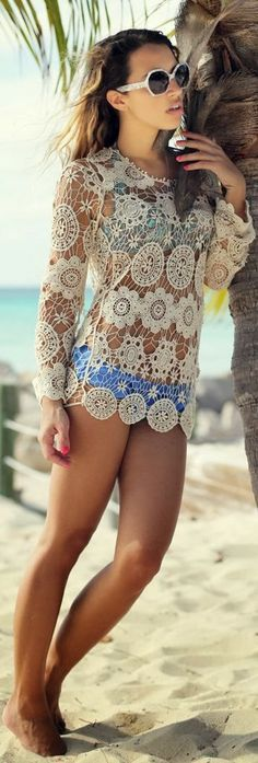 Cool Lace Top With Awesome Shades