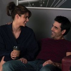 Missy Peregrym and Ben Bass as Andy McNally and Sam Swarek - Rookie Blue