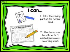 Number Bond Related Facts   Fluency Practice: Addition Facts to 10, Ready Math First Grade - Lesson 11 - Facts I Know