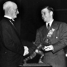 1938 Heisman Winner (QB) Davey O'Brian - Texas Christian University -- Looking forward to the 2015 Heisman winner in TCU QB Trevone Boykin