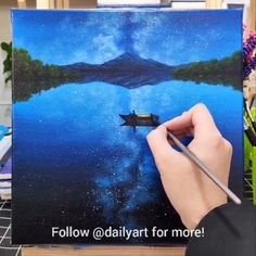 Great art by ID: 811369503 (Döuyin App) Cool Art Drawings, Beautiful Drawings, Drawing Sketches, Scenery Paintings, Acrylic Art, Painting Techniques, Art Tutorials, Watercolor Paintings, Painting Art