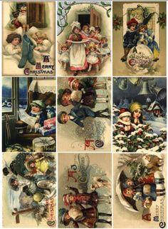 Картинки небольшого размера , для елочных шаров и других поделок Christmas Arts And Crafts, Christmas Labels, Christmas Graphics, Christmas Clipart, Christmas Paper, Retro Christmas, A Christmas Story, Christmas Printables, Vintage Scrapbook