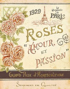 French Seed Packet I ❤ Vintage Art Seed Label Poster Print! ☮~ღ~*~*✿⊱ レ o √ 乇 !! - Victorian Style.
