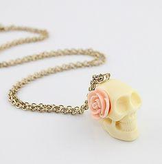 Skull Punk Style Pendant Necklace
