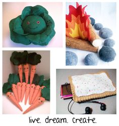 Live.Dream.Create. is based out of Tallmadge, OH and offers handmade felt plushies, playsets, felt foods, mini felt hats, and other fun items!