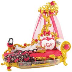 Amazon.com: Ever After High Getting Fairest Apple White Fainting Couch Accessory: Toys & Games