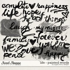 Life - Painted Words by Sugary Fancy  #painted #handpainted #words #sugaryfancy