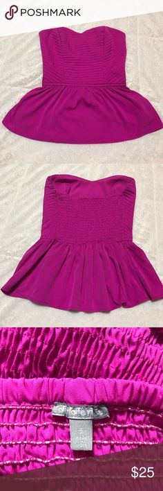 Charlotte Russe Bustier Top Fuchsia Pink Bustier  Charlotte Russe Tops