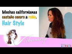 Mechas californianas de castaño oscuro a rubio - YouTube
