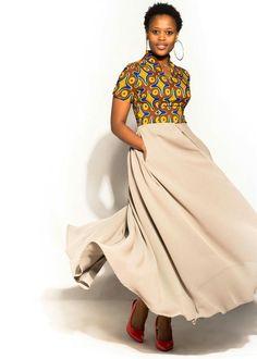 Dress style by zaza African Print Fashion, African Fashion Dresses, Fashion Prints, Fashion Outfits, Fashion Design, African Attire, African Dress, Arab Fashion, Daily Dress
