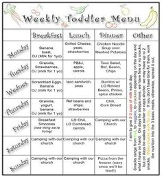 Daycare menu 2 Oct | Daycare - Decor - Inspiration | Pinterest ...