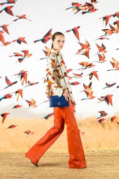 Akris Pre-Fall 2016 Fashion Show #AllKindsOfOrange #70Style #wideleg