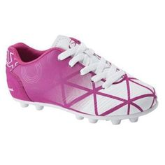 These Xara Illusion kids soccer cleats are great for the safety of the soccer player. The kids soccer cleats has a 14 point cleat configuration for even weight distribution, along with providing better balance and grip. There is a padded heel cup in the kids soccer cleat for comfort. Features: Color: Pink/White Importe  #youthsports #youthsoccer #soccercleat #cleat #cleats #girlssoccer #girlsshoes Toddler Soccer Cleats, Youth Cleats, Girls Soccer, Youth Soccer, Nike Soccer, Fc Barcelona Neymar, Soccer Girl Problems, Morgan Soccer, Manchester United Soccer