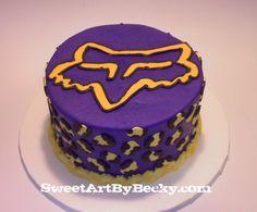 Fox Racing Cake with Cheetah print