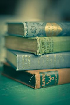 {Seams} book series ©  Reny (Freelance Photographer. San Francisco, California, USA) aka 'reny :: honey'  via flickr. Request to license 'reny :: honey's' photos via Getty Images. Artist site: http://reny-photography.com/ Prints available for sale upon request. Vintage books. Shades of green. Bokeh. ...  KEEP attribution & PhotoArtist link when repinning or posting to other social media (ie blogs, twitter, tumblr etc). Don't pin the image & erase the artist. Artists need to eat too!