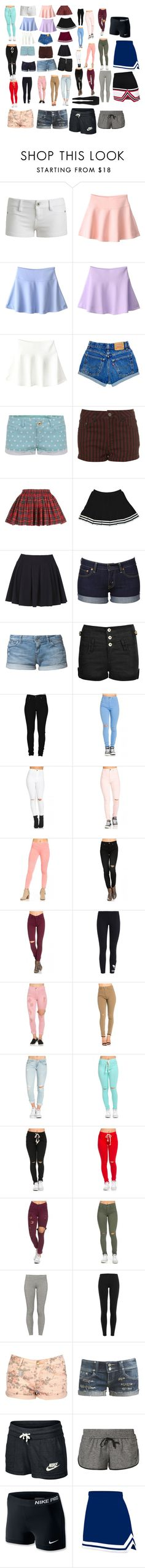 """""""Bottoms"""" by hannalove1234 ❤ liked on Polyvore featuring Wet Seal, TALLY WEiJL, Parisian, Don't Ask Amanda, Levi's, Roxy, Cheap Monday, adidas Originals, TNA and Polo Ralph Lauren"""