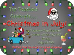 Christmas in July Sale!  Come join the linky and the sale!