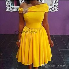 homecoming Dresses 2019 yellow One-Shoulder Neck Skater cute lace a-line sleeveless zipper back prom dresses short occasion gown Source by dress 2019 African Wear Dresses, Latest African Fashion Dresses, African Print Fashion, Junior Homecoming Dresses, Prom Dresses, Graduation Dresses, Dress Prom, Dress Long, Party Dress