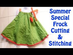 Simple & Easy Summer Special Umbrella Frock/Dress for Cute Kids Cutting & Stitching Summer Dress Patterns, Baby Girl Dress Patterns, Baby Clothes Patterns, Baby Summer Dresses, Little Girl Dresses, Simple Frocks, Sewing Dresses For Women, Baby Frock Pattern, Kids Blouse Designs