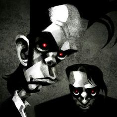 Dibujo de Nick Cave y Blixa Bargeld.