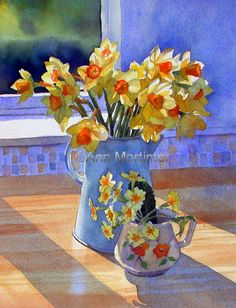 Ann Mortimer's Painting Blog: Here's the daffs painting. I'm calling it Hopes of...