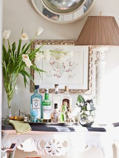 Bar Cart Styling #spirits #decor #holiday..Light and Airy....