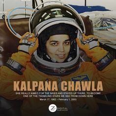 Remembering the first Indian Lady in Space on her Birth Anniversary Online Campaign, Brand Promotion, Reputation Management, Birth, Digital Marketing, Anniversary, Indian, Space, Lady