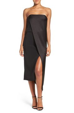 Halston Heritage Halston Heritage Asymmetrical Crepe Midi Dress available at #Nordstrom