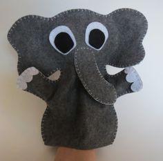 Elephant Puppet Elephant Hand Puppet Felt by ModernSimpleBaby