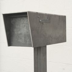 The Dexter Mailbox - Steel Modern Metal Letter Box Contemporary Metal Post Box Address Numbers Curbside Large Mailbox, Modern Mailbox, Dexter, Types Of Steel, Ipe Wood, Address Numbers, Post Box, Steel Mill, Houses