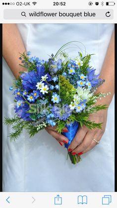 Amazing Blue Wildflower Bridesmaid Bouquet with Cornflowers - B . - Amazing Blue Wildflower Bridesmaid Bouquet with Cornflowers – Bride – Bouquets – - Wedding Bridesmaid Bouquets, Simple Wedding Bouquets, Wedding Flower Guide, Wedding Flower Arrangements, Floral Arrangements, Wedding Simple, Bride Bouquets, Trendy Wedding, Prom Flowers