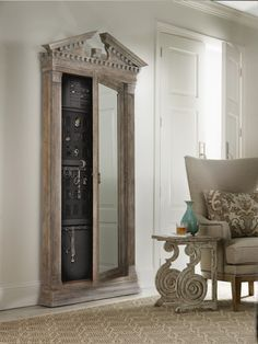 Floor mirror does double duty with jewelry storage!