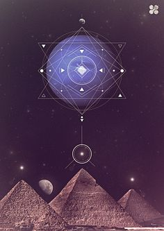 Sacred Geometry, the Egyptian Pyramids. Mystique, Flower Of Life, Ancient Egypt, Alchemy, Magick, Wicca, Images, Graphic Design, House Beautiful