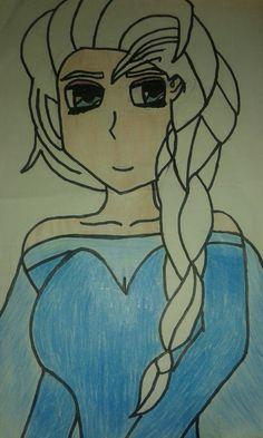 Elsa que eu desenhei