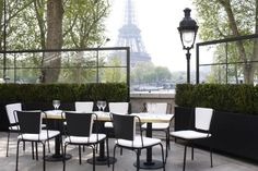 Monsieur Bleu restaurant in Paris by architect Joseph Dirand via Remodelista.