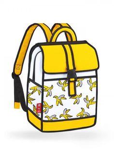Banana Backpack in Yellow