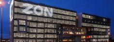 Reclamos luminoso sede da ZON em Lisboa by Vinilconsta
