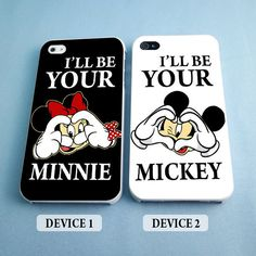 I'll Be Your Minnie and I'll Be Your Mickey - Disney Couples Phone... ($30) ❤ liked on Polyvore featuring accessories, tech accessories, phone cases, phones, disney, couples, iphone rubber cases, iphone lens case, thin iphone case and iphone hard case