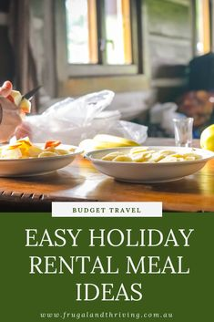 Cooking on a holiday can save you hundreds of dollars. But it's no vacation if you spend all the time in the kitchen! These vacation meal ideas will save you time and money so you can enjoy your holiday. #budgettravel #budgetvacation Frugal Recipes, Healthy Recipes On A Budget, Frugal Meals, Budget Meals, Relaxing Holidays, Cheap Dinners, Family Birthdays, Frugal Living, Meal Ideas