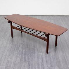 Vintage Tische - 60er Jahre Couchtisch im skandinavischen Stil - ein Designerstück von Velvet-Point bei DaWanda