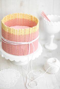Pinterest Fanatic Favorite Finds: gorgeous vanilla pink pocky cake recipe